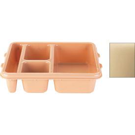 Cambro 9114CP161 - Tray 4 Compartment 9 x 11, Tan - Pkg Qty 24