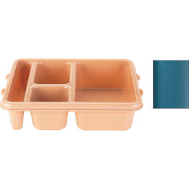 Cambro 9114CW414 - Tray 4 Compartment Deep, Teal - Pkg Qty 24