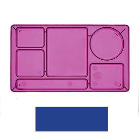 """Cambro 915CP186 - School Tray 2 x 2 9"""" x 15"""", Navy Blue - Pkg Qty 24"""