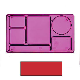 "Cambro 915CW404 - School Tray 2 x 2 10"" x 14"", Red - Pkg Qty 24"