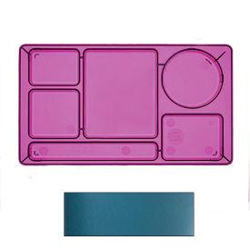 "Cambro 915CW414 - School Tray 2 x 2 10"" x 14"", Teal - Pkg Qty 24"