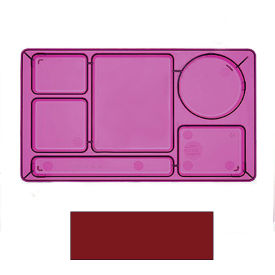 "Cambro 915CW416 - School Tray 2 x 2 10"" x 14"", Cranberry - Pkg Qty 24"