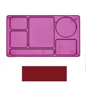 "Cambro 915CW416 - School Tray 2 x 2 10"" x 14"", Cranberry - Pkg Qty 24"