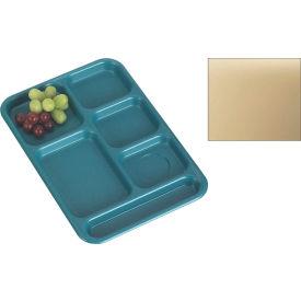 "Cambro BCT1014161 - School Tray 10"" x 14"" 6 Compartment, Tan - Pkg Qty 24"