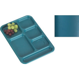 """Cambro BCT1014414 - School Tray 10"""" x 14"""" 6 Compartment, Teal - Pkg Qty 24"""