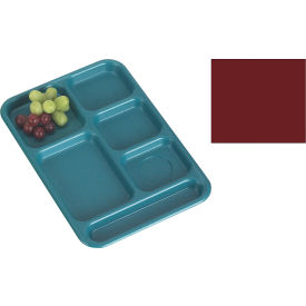 "Cambro BCT1014416 - School Tray 10"" x 14"" 6 Compartment, Cranberry - Pkg Qty 24"