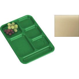 "Cambro PS1014161 - School Tray, 10"" x 14"" 6 Compartment, Tan - Pkg Qty 24"