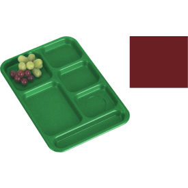 "Cambro PS1014416 - School Tray, 10"" x 14"" 6 Compartment, Cranberry - Pkg Qty 24"
