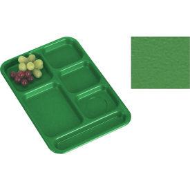 "Cambro PS1014437 - School Tray, 10"" x 14"" 6 Compartment, Grass Green - Pkg Qty 24"