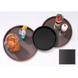 "Cambro PT1100167 - Tray Polytread 11"" Round,  Brown - Pkg Qty 12"