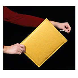 "Self-Seal Bubble Mailer With Opening Tear Strip, 5""W x 10""L, Golden Kraft, 25 Pack"