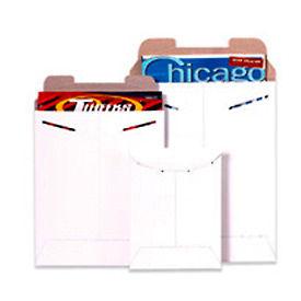 "Stayflat Tab Lock Mailers 7"" x 9"" White, 100 Pack"