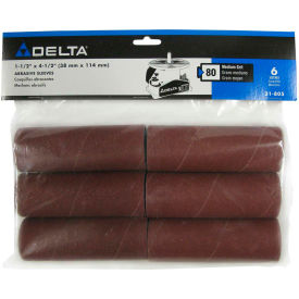 Delta 31-805 1-1/2 In x 4-1/2 In 80G 6 Pc Spindle Sanding Sleeves For SA350K B.O.S.S. Spindle Sander