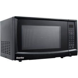 Danby® DMW07A4BDB, Microwave Oven,  0.7 Cu. Ft., Black, 700 Watts, Touchpad, LED Clock / Timer