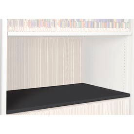 Rotary File Cabinet Components, Legal Depth Flat Shelf, Black