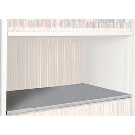 Rotary File Cabinet Components, Letter Depth Flat Shelf, Light Gray