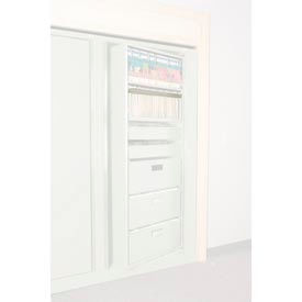 Rotary File Cabinet Components, Legal Front Hanging Folder Rail, Bone White