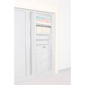 Rotary File Cabinet Components, Legal Front Hanging Folder Rail, Light Gray