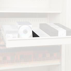 """Rotary File Cabinet Components, 3"""" Media Divider (Each), Black"""