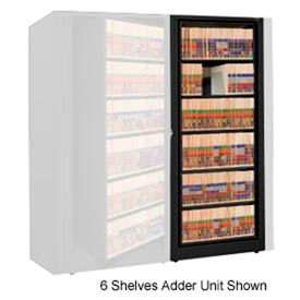 Rotary File Cabinet Adder Unit, Legal, 3 Shelves, Black