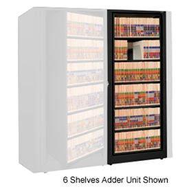 Rotary File Cabinet Adder Unit, Legal, 3 Shelves, Black
