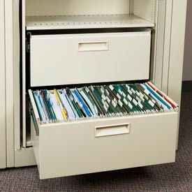 Rotary File Cabinet Components, Legal File/Storage Drawer, Bone White