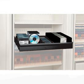 Rotary File Cabinet Components, Legal Multimedia Drawer, Black