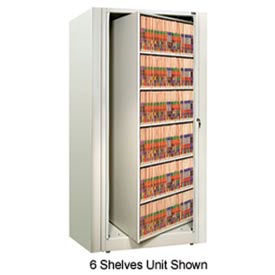 Rotary File Cabinet Starter Unit, Legal, 4 Shelves, Bone White