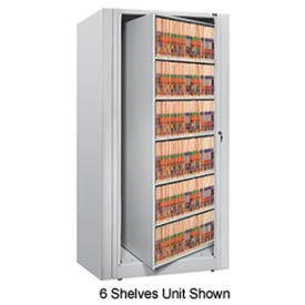 Rotary File Cabinet Starter Unit, Legal, 4 Shelves, Light Gray