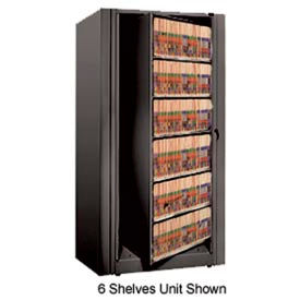 Rotary File Cabinet Starter Unit, Legal, 5 Shelves, Black