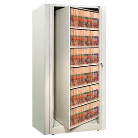Rotary File Cabinet Starter Unit, Legal, 6 Shelves, Bone White