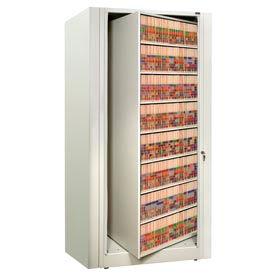 Rotary File Cabinet Starter Unit, Legal, 8 Shelves, Bone White