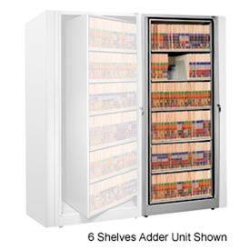 Rotary File Cabinet Adder Unit, Letter, 2 Shelves, Light Gray