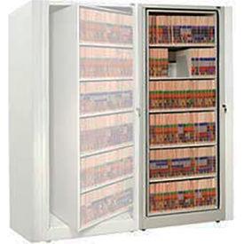 Rotary File Cabinet Adder Unit, Letter, 4 Shelves, Bone White