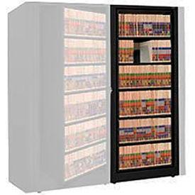 Rotary File Cabinet Adder Unit, Letter, 6 Shelves, Black