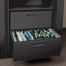Rotary File Cabinet Components, Letter File/Storage Drawer, Black