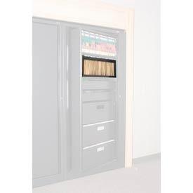 Rotary File Cabinet Components, Letter Depth Hanging Folder Drawer, Black