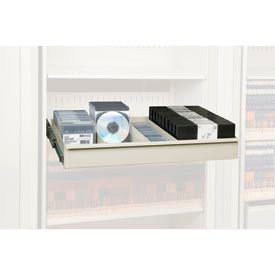 Rotary File Cabinet Components, Letter Multi Media Drawer, Bone White