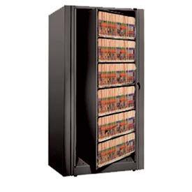 Rotary File Cabinet Starter Unit, Letter, 6 Shelves, Black