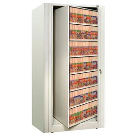 Rotary File Cabinet Starter Unit, Letter, 7 Shelves, Bone White