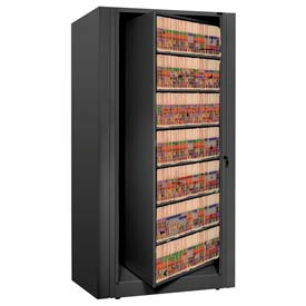 Rotary File Cabinet Starter Unit, Letter, 7 Shelves, Black