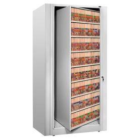 Rotary File Cabinet Starter Unit, Letter, 8 Shelves, Light Gray