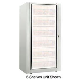 Rotary File Cabinet Components, Base Starter Unit, Legal, 7-High, Bone White