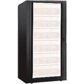 Rotary File Cabinet Components, Base Starter Unit, Legal, 7-High, Black
