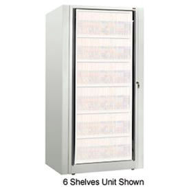 Rotary File Cabinet Components, Base Starter Unit, Legal, 8-High, Bone White
