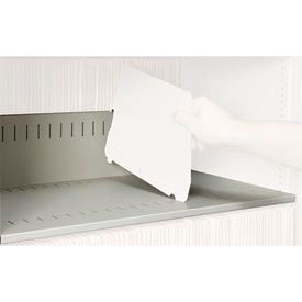 Rotary File Cabinet Components, Slotted Shelf, Legal Depth, Bone White