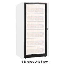 Rotary File Cabinet Components, Base Adder Unit, Letter, 5-High, Black