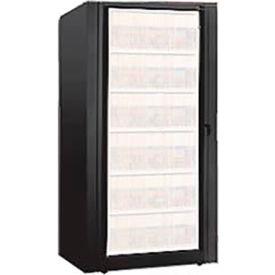 Rotary File Cabinet Components, Base Starter Unit, Letter, 8-High, Black