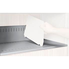 Rotary File Cabinet Components, Slotted Shelf, Letter Depth, Light Gray