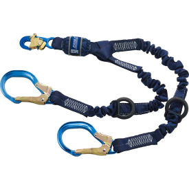 Force2™ 1246032 6' Elastic 100% Tie-Off Shock Absorbing Lanyard, Rescue D-rings at Each End